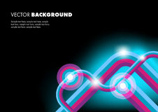 Background With Lines. Abstract Background With Colorful Glowing Lines Stock Photo