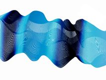 Background with lines, wave shape Royalty Free Stock Image