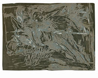 Background - linocut Royalty Free Stock Image