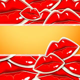 Background with lips Stock Image