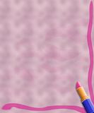 Background lipstick and kisses Royalty Free Stock Photography