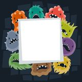 Background with little angry viruses and monsters Royalty Free Stock Photos
