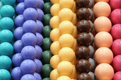 Background of little balls of a necklace Stock Photography