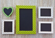 Background with little blackboards Stock Photo