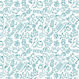 Background for little boys and girls. Doodle children drawing ba Royalty Free Stock Images