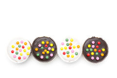Background little cake row Royalty Free Stock Photo