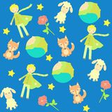 Background with The little prince characters Stock Photography