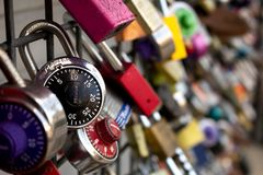 Background of locks stock photo