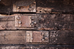 Background of logs with pinning Royalty Free Stock Images