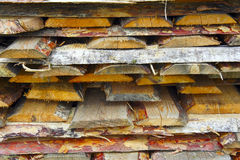 Background of logs and planks. The Background of logs and planks stock images