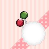 Background with lollipops Stock Photo
