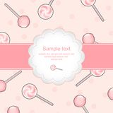 Background with lollipops Royalty Free Stock Image