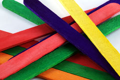 Background of lolly sticks Stock Images
