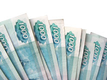 Background  - is a lot of banknotes of Russia Stock Images