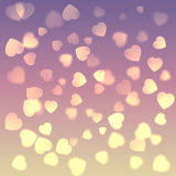 Background with a lot of hearts. Beautiful background with a lot of hearts Stock Illustration