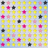 Background with a lot of stars Stock Photography