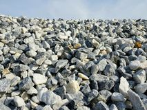 Construction pebbles background. Stones for construction. stock photo