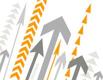 Background with lots of arrows Royalty Free Stock Photos