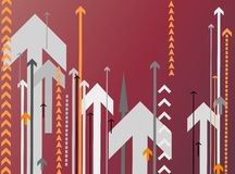 Background with lots of arrows Stock Photography