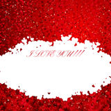 Background with with lots of hearts. Royalty Free Stock Images