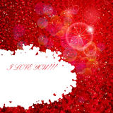 Background with with lots of hearts. Stock Photos