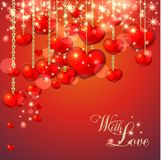 Background with lots of hearts Stock Photo
