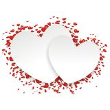 Background with lots of hearts Royalty Free Stock Photos