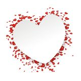 Background with lots of hearts Royalty Free Stock Images