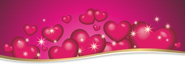 Background with lots of hearts Royalty Free Stock Photo