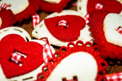 background lots of hearts Valentine`s day Stock Image