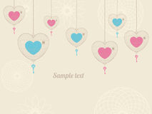 Background with love cages Royalty Free Stock Photography