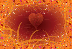 Background love curlicues Royalty Free Stock Images