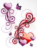 Background love illustration Stock Image