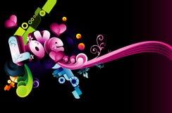 Background love illustration Stock Photo