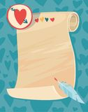 Background for a love letter. Valentine's Day Royalty Free Stock Images