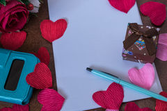 Background for love notes Stock Photo