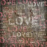 Background love texture vintage burlap Royalty Free Stock Image
