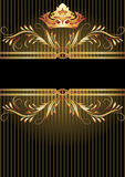 Luxurious golden ornament and crown Royalty Free Stock Image