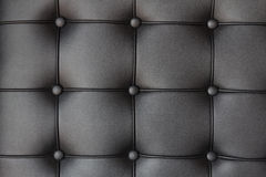 Background of luxury buttoned black leather Stock Photography