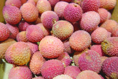 Background from lychees Stock Photo