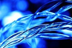Background macro blue  wires Stock Photo