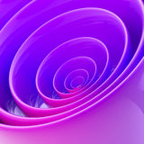 Background made of abstract plastic circles. Background bright and glossy made of abstract plastic violet and blue circles Stock Photo