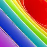 Background made of abstract plastic circles. Background bright and glossy made of abstract plastic rainbow circles Royalty Free Stock Photos