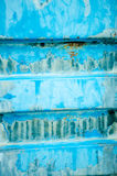 Background made of blue metal container Royalty Free Stock Photography