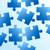 Background made from blue puzzle pieces. Blue puzzle pieces made background Stock Photo