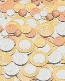 Background made of Brazilian coins. Real, reais brasileiros Royalty Free Stock Photography