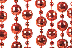 Background made of a brilliant red beads. Background made of a brilliant celebratory beads of red color Royalty Free Stock Images