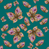 Background made of butterflies of various flowers Royalty Free Stock Photos