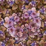 Background made of butterflies of various flowers Stock Photos