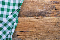 The background made from checkered napkin Royalty Free Stock Photography